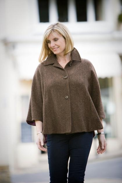 Connie Ladies Cape in Donegal Tweed