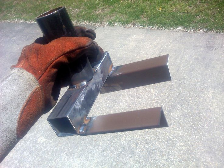 If you have more than a couple of pallets to break up, this tool will save a lot of time. I welded it up from scrap I had in the shop (bed frame angle iron, black pipe, square tubing, shovel handle). Lots of different scrap will work. Make sure to make your forks wide enough so you can get around a 4 inch stringer. In the beginning, if your pallet boards are too close together to fit the breaker, go ahead and knock the first one out with a hammer from behind.&amp...