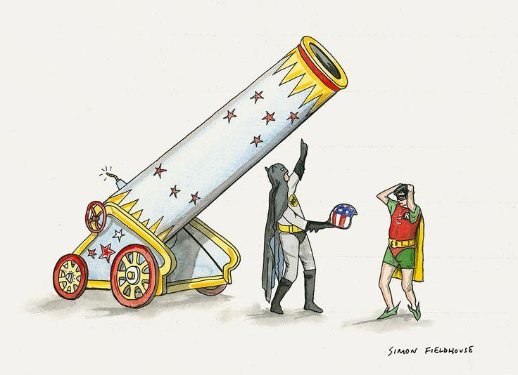 Batman and Robin - Human Cannon Ball
