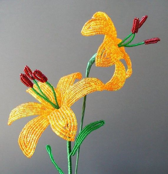 Lily - Beaded Flower Tutorial                                                                                                                                                                                 More