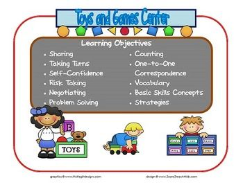 Learning Center Signs Interest Areas Based On Creative