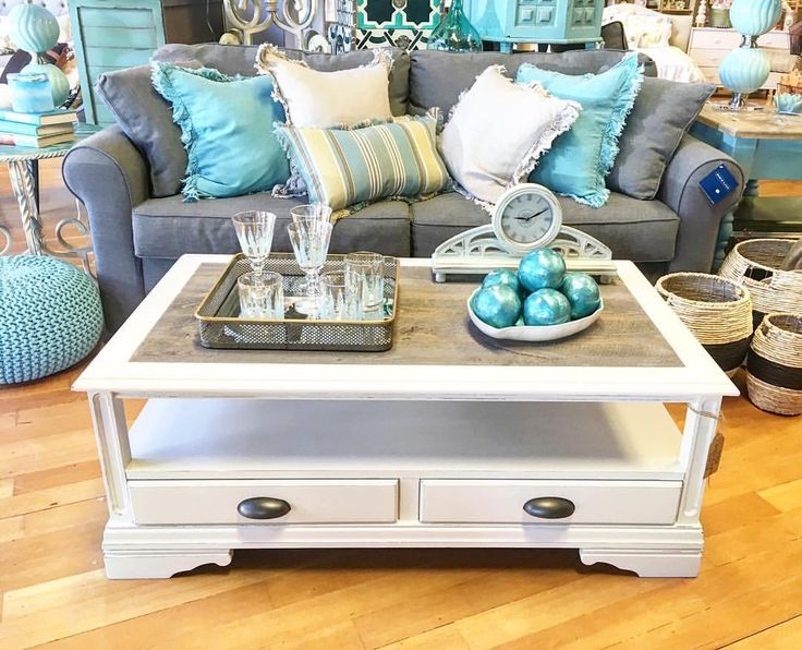 """31 Likes, 5 Comments - The Squeaky Door (@thesqueakydoor) on Instagram: """"Another great new piece we just brought to the shop!! Barnwood top coffee table with two drawers…"""""""