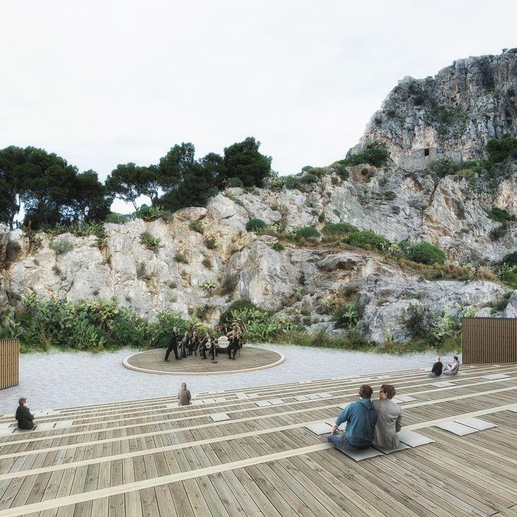 Diseñado por AM3 Architetti Associati, Cannone Architetti. Una propuesta de AM3 Architetti Associaticon Cannone Architetti utiliza el flujo del paisaje natural para crear un teatro que se inserta enun...  http://www.plataformaarquitectura.cl/cl/792580/am3-architetti-associati-disenan-un-anfiteatro-que-se-inserta-en-un-acantilado?utm_medium=email&utm_source=Plataforma%20Arquitectura