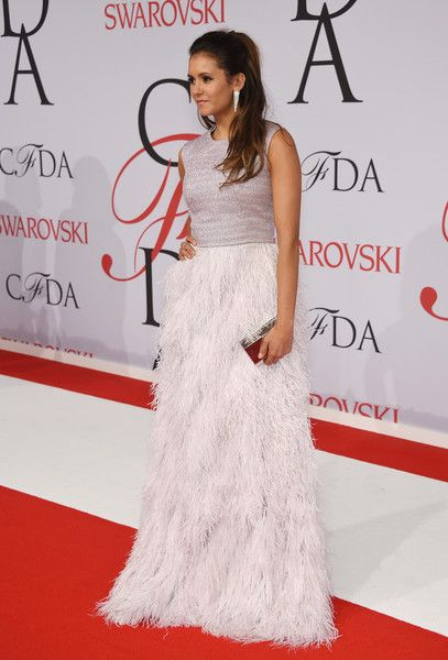 Nina Dobrev Photos: 2015 CFDA Fashion Awards - Inside Arrivals