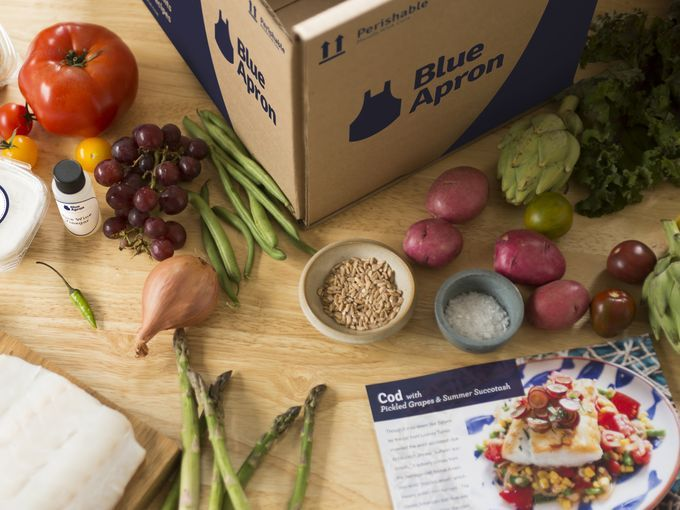 Sometimes dinner is a chore, an obstacle between you and your TV remote. Blue Apron drops off recipes and pre-measured ingredients at your door, from veggies and organic meat to elaborate spice mixes. | Plans starting at $9.99 at BlueApron.com  Blue Apron