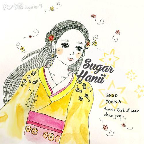 #HappyYoonaDay My baby, Princess Yoong. From God of war zhao yun [snsd fanart] #sugarhanii