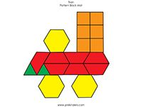 Train Pattern Block Mat in color