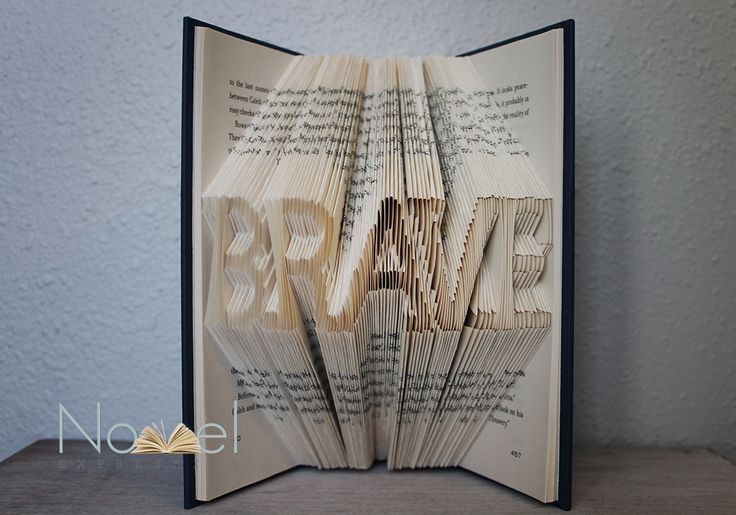 BRAVE - Folded Book Art - Recycled Divergent Book - Book to Big Screen Collection