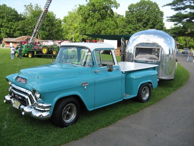 old truck and airstream. It's not for sale by Hughes, we just love this shot. #usedtruck #usedtrucks | Hughes Motor Products