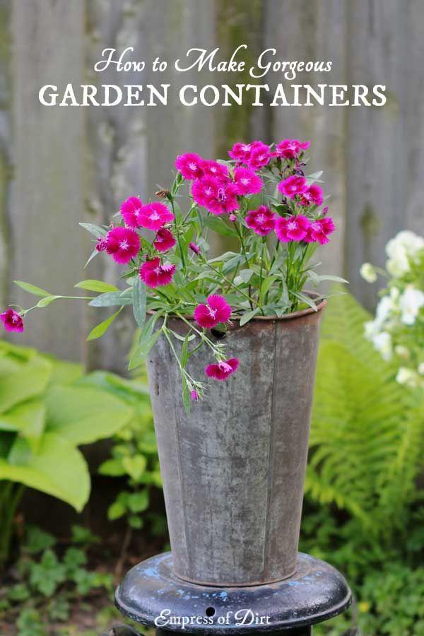 1213 best GARDEN Containers images on Pinterest Garden ideas