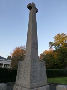 Camberley war memorial in the setting sun.....