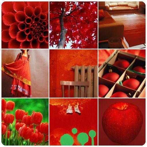 красный цвет коллаж