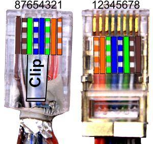 Kategorie 5 CAT5 Verkabelung Twisted Pair Ethernet Gigabit Ethernet. Steckerbelegung, EIA/TIA T568A T568B, 10/100/1000 Switch