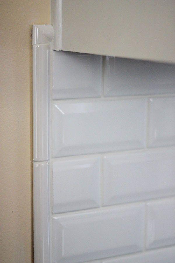 Kitchen Backsplash Beveled Subway Tile it's jewelry for your kitchen! beveled subway backsplash tile http