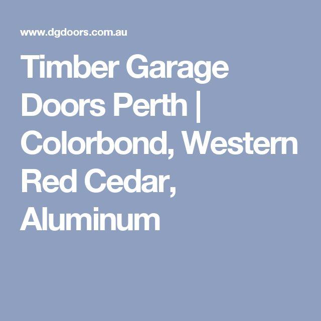 Timber Garage Doors Perth | Colorbond, Western Red Cedar, Aluminum