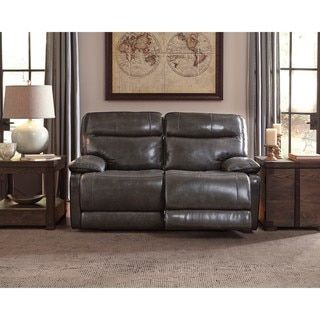 Shop for Signature Design by Ashley Palladum Grey Reclining Loveseat. Get free shipping at Overstock.com - Your Online Furniture Outlet Store! Get 5% in rewards with Club O! - 21125337