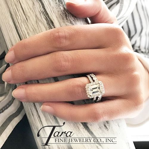 mothers day is coming so what better time to upgrade her wedding ring shop this stunning emerald cut diamond ring and many more at tara fine jewelry - Wedding Ring Shop
