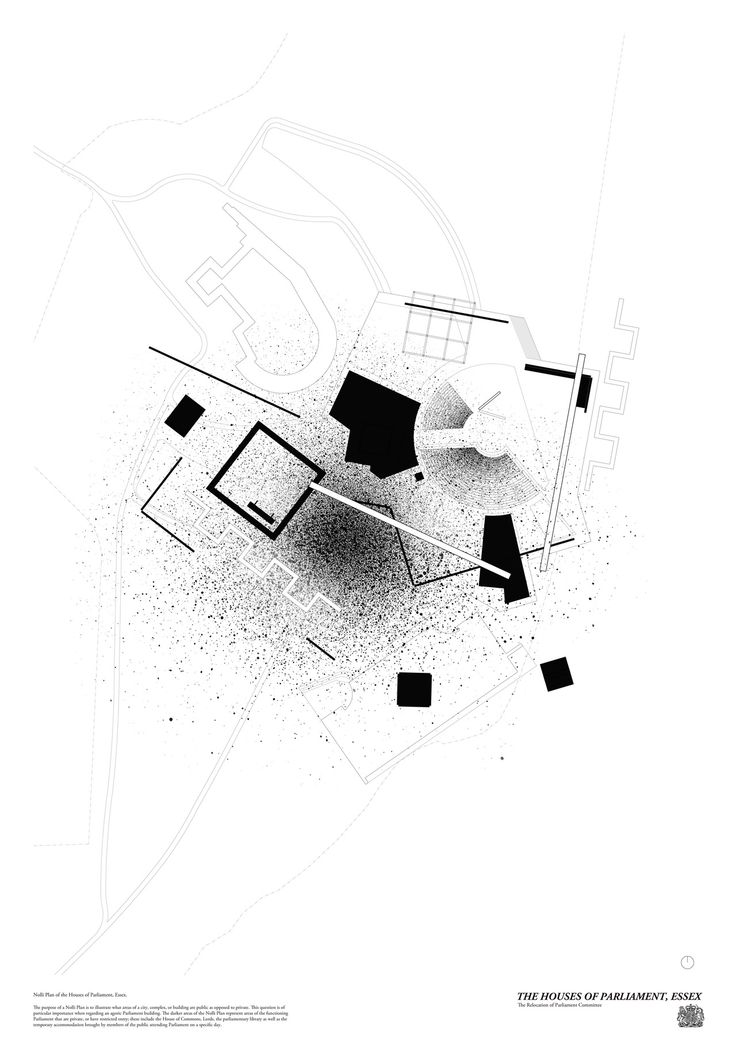 Nolli Plan of the Houses of Parliament, Essex, 2013 http://www.kieranthomaswardle.com/