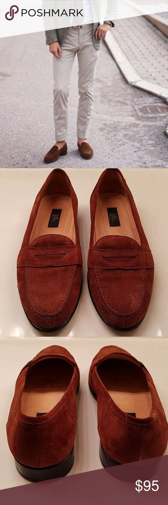 Zelli Brown Suede Loafers Zelli Brown Suede Loafers, size 12. Zelli shoes are hand crafted in Italy. These have been worn less than a dozen times. Versatile wardrobe staple. Suede is perfect for the fall and winter and goes great with jeans, khakis, dress pants, cords. Cover photo is not of actual item, just shown for styling purposes. Zelli Shoes Loafers & Slip-Ons