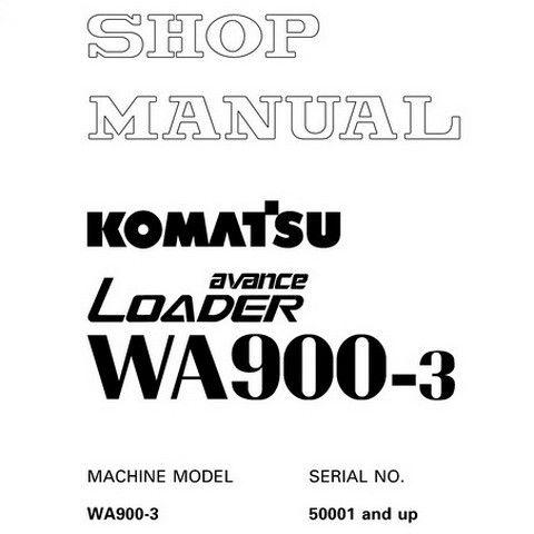 Komatsu WA900-3 avance Wheel Loader Service Repair Shop