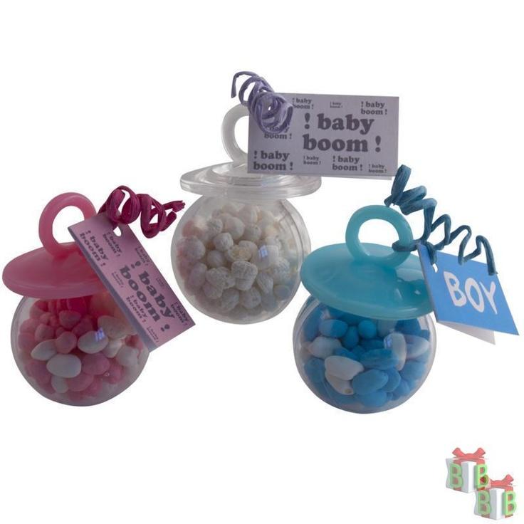 speen bal wit roze en blauw geboortebedankjes