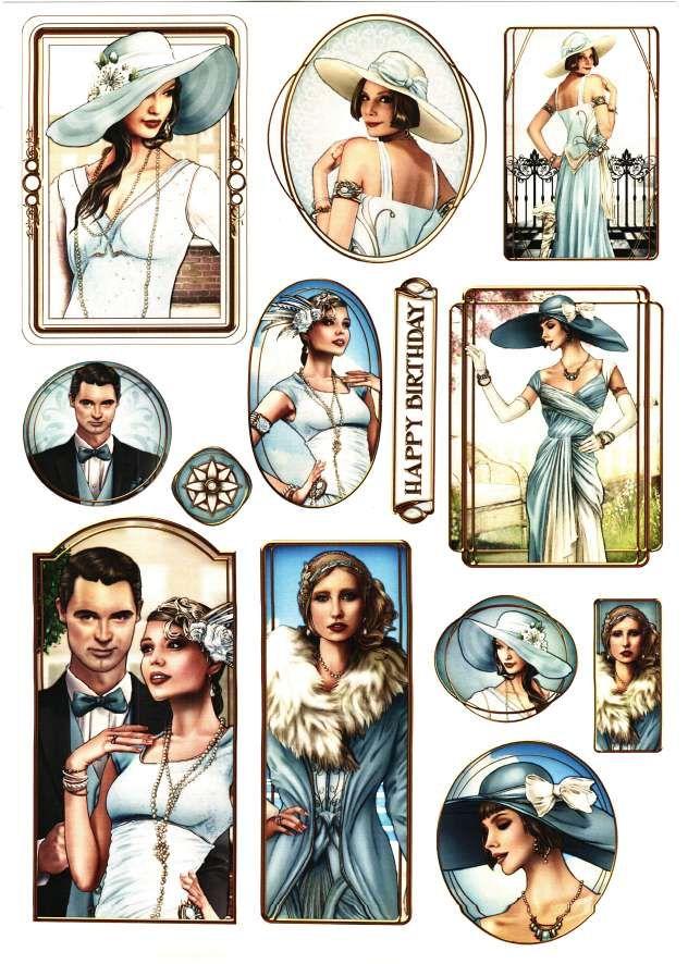 Debbi Moore Designs - Elegant Moments card toppers #11