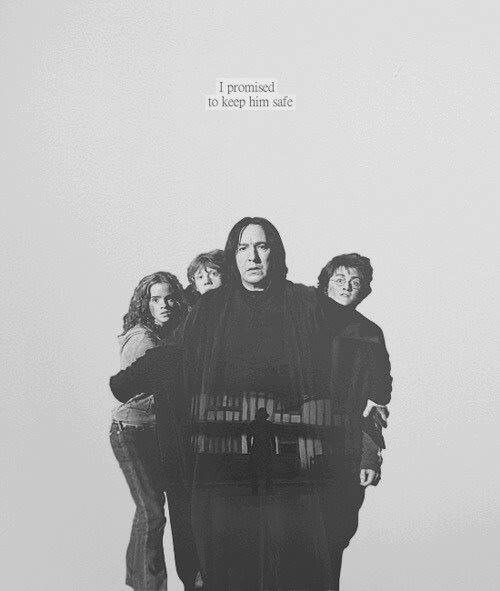 i loved this...how Snape so instinctively put himself between them and danger just PROVED that he was good