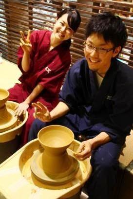手形湯呑:織姫シリーズ 結婚式の両親へのプレゼントなら東京の陶芸教室で体験【彩泥窯】