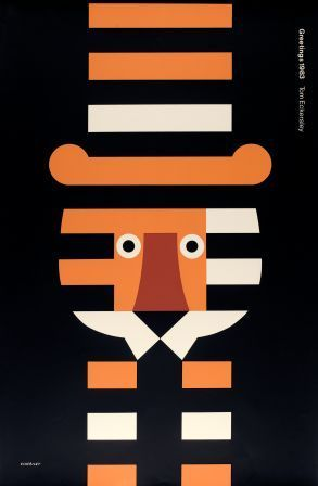 Tom Eckersley (1914-1997) was an English poster artist known for his use of bold, bright colors and simple block shapes. During WWII he was a cartographer for the Royal Air Force and created designs for the General Post Office. In 1948 he was awarded the Order of the British Empire for his services to poster design.