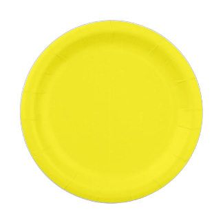 Custom Yellow Paper Plate 7 Inch Paper Plate