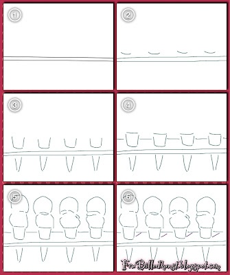 from Fru Billedkunst blog- how to draw Wayne Thiebaud ice cream cones (use Google translate to read post)