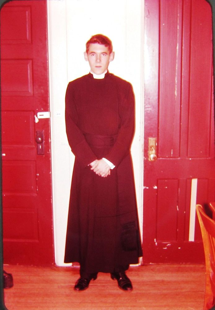 a7ae0d8262 Handsome Young Priest Cassock Serious Vintage Color 35mm Slide 1960s ...