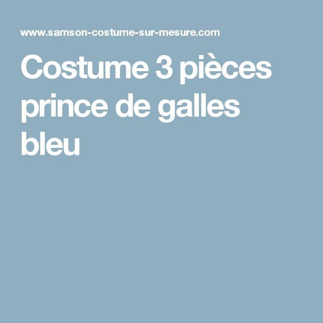 Costume 3 pièces prince de galles bleu