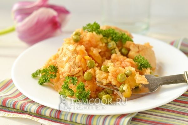 Рецепт паэльи с курицей
