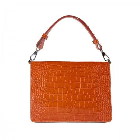 Lacrom Store || donatella lucchi, accessories, bags, Claire  Leather bag with crocodile print