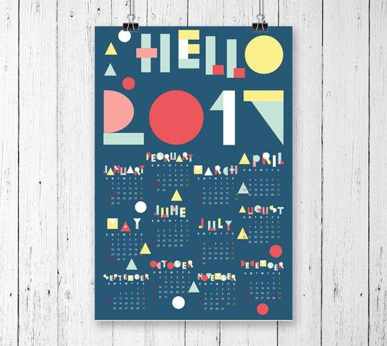 blue wall calendar
