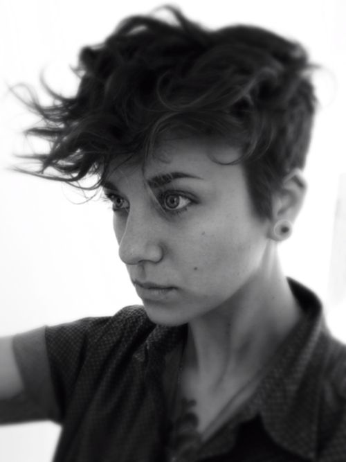 More hair style inspo, I can't remember the exact source but I'm pretty sure I either found this on fuckyeahdykes.tumblr.com genderqueerd.tumblr.com.