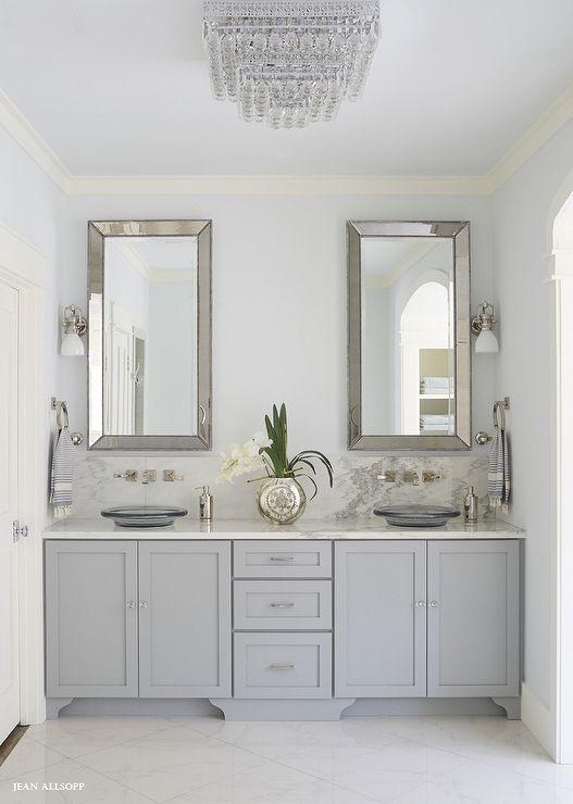 light blue bathroom wall decor  white vanity bathroom