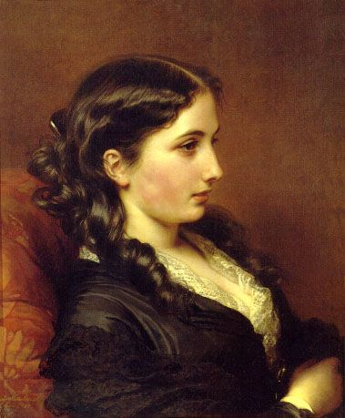 Study of a Girl in Profile - Franz Xaver Winterhalter