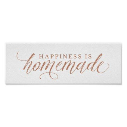 Happiness Is Homemade Poster - paper gifts presents gift idea customize