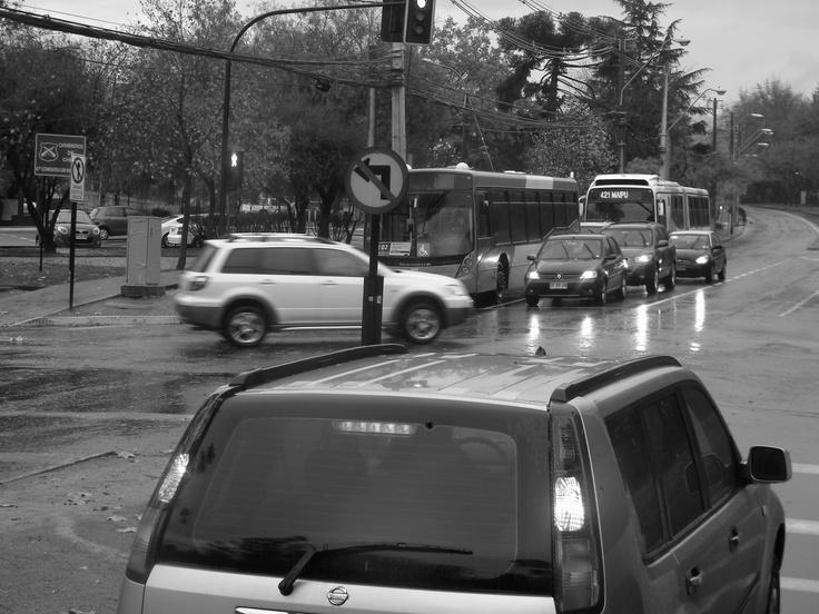 En el semaforo