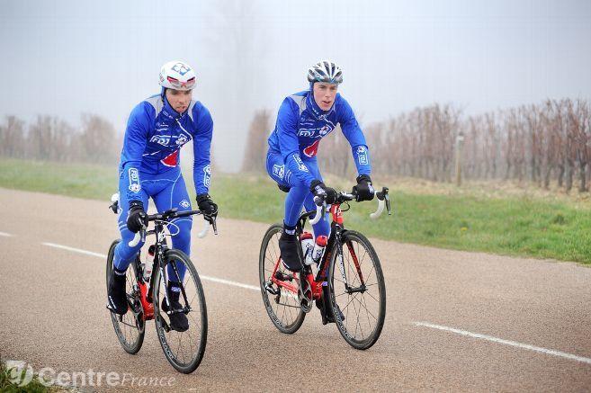 Cedric PINEAU et Jeremy MAISON, deux coureurs cyclistes professionnels FDJ, Irancy, 02/12/2016. Photo Jeremie Fulleringer © Jérémie FULLERINGER
