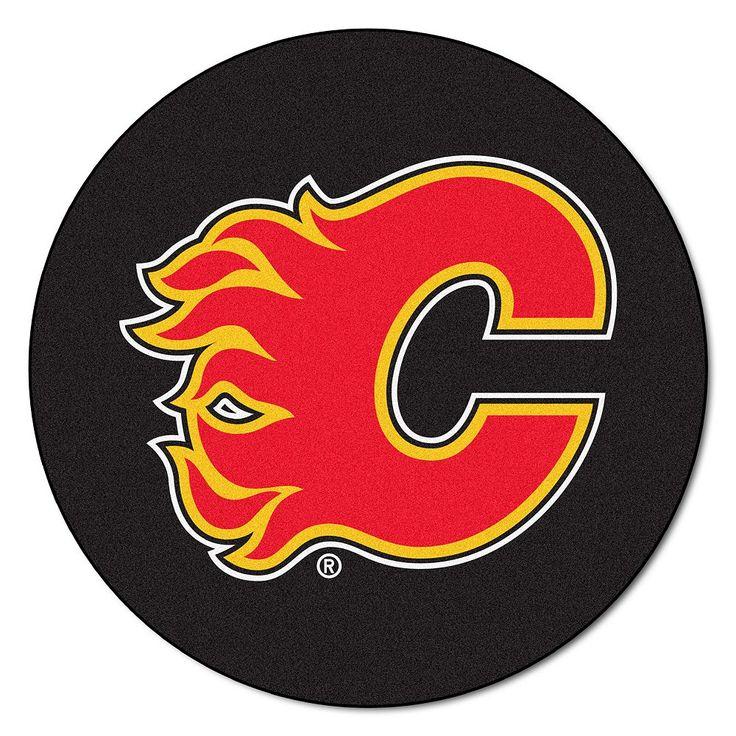 Fanmats Calgary Flames Hockey Puck Rug, Multicolor
