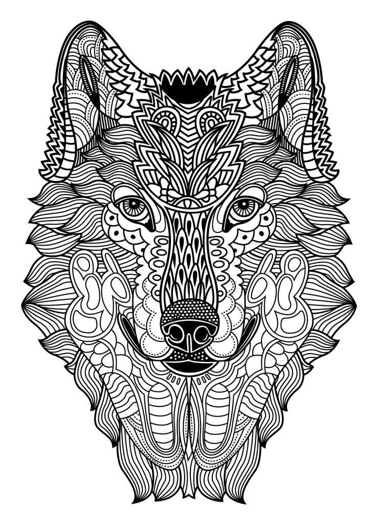 Wild Animals to color Colorish