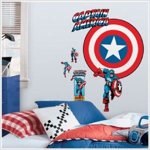 roommates captain america vintage shield peel stick giant wall decal york wall coverings toys r us