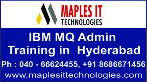 Maples It Technologies conducting free demo on IBM WebSphere MQ Administration training  in 25 april 2014. (25-04-2014) http://maplesittechnologies.com/ibmwebspheremqadmin.html