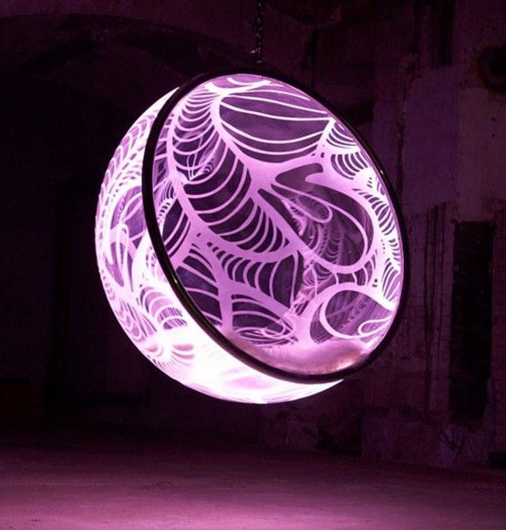 fantastic bubble chair with dmx led rgb color