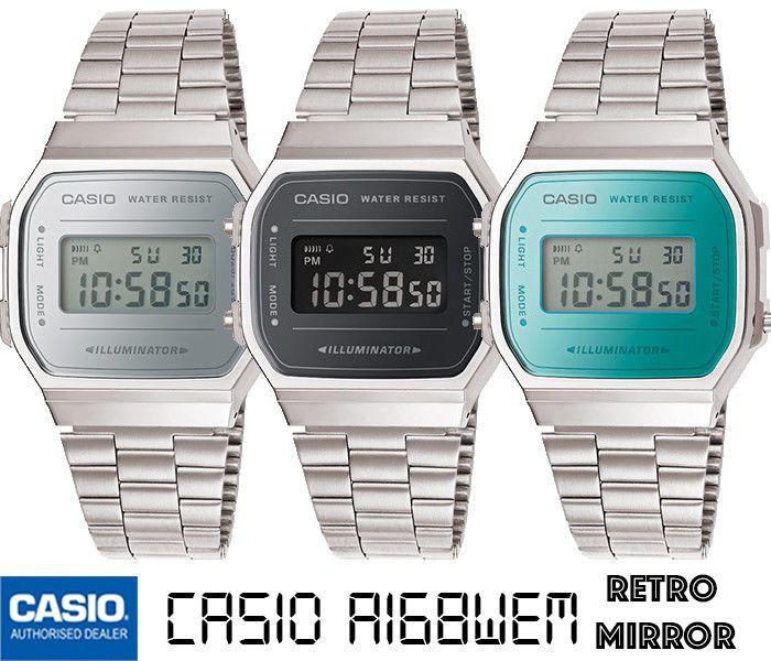 b0261a43f70 CASIO A168WEM-1EFA168WEM-2EF A168WEM-7EF ORIGINAL RETRO MIRROR ENVIO ...