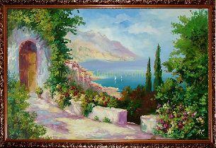Побережье средиземноморья - Средиземноморье <- Картины маслом <- Картины - Каталог | Универсальный интернет-магазин подарков и сувениров