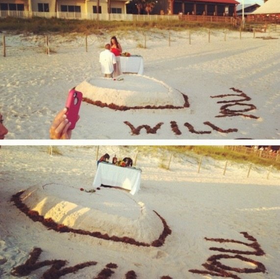 Wedding Proposal Ideas Beach: Love Love Love